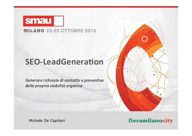 Seo Lead Generation - Come generare contatti di clienti potenziali coi motori di ricerca