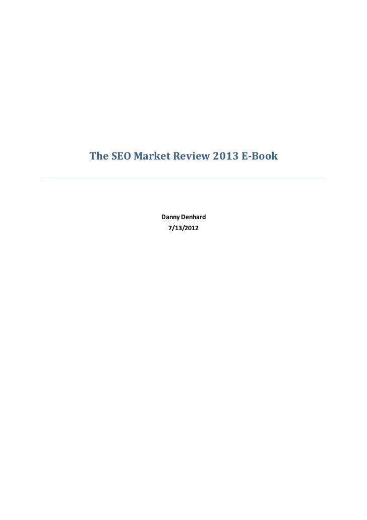SEO Market Review 2013 e book / White Paper
