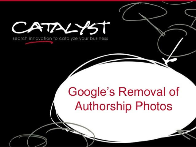 Google's Removal of Authorship Photos