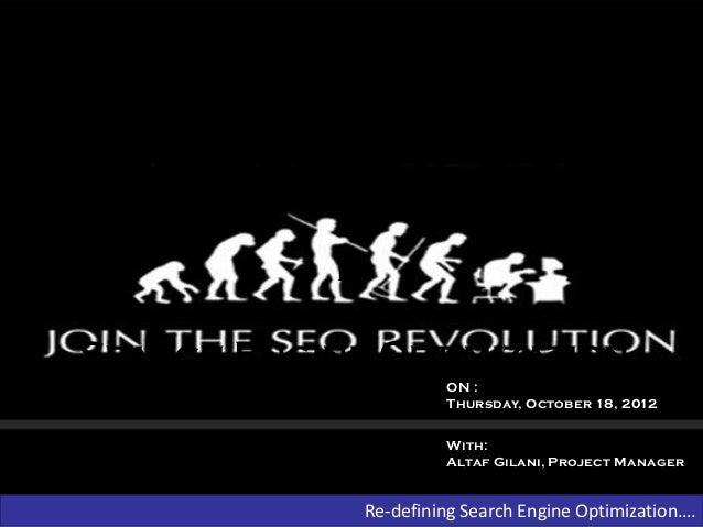 SEO Presentation Delievered to ZealousWeb Team