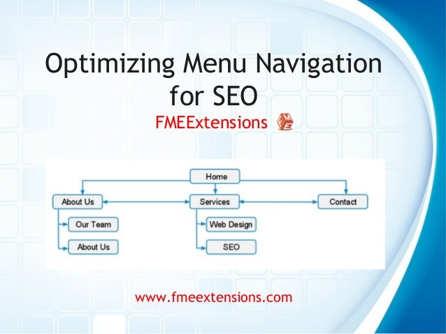 Optimizing Menu Navigation for SEO FMEExtensions www.fmeextensions.com