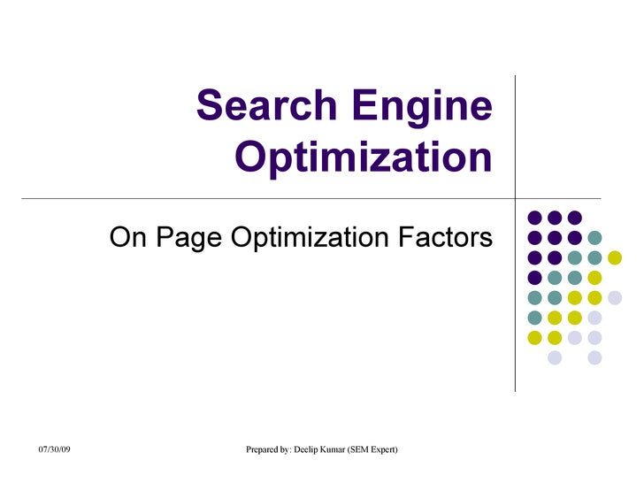 Seo On Page Factors