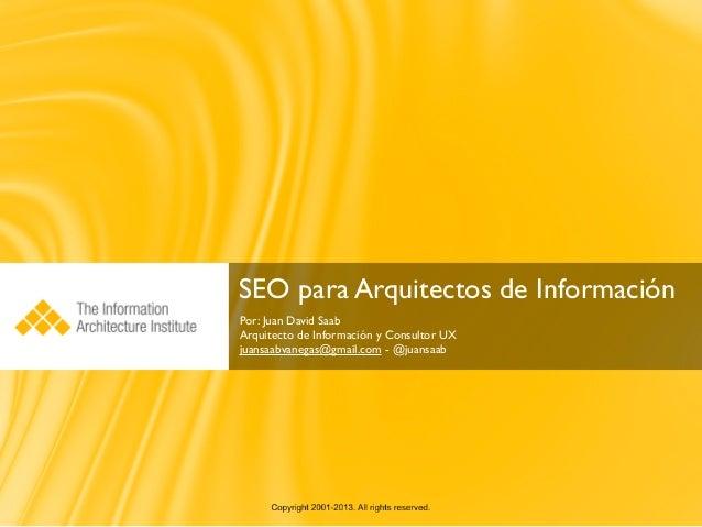 SEO para Arquitectos de Información