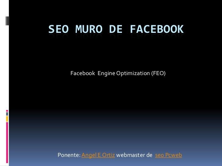 Seo muro facebook