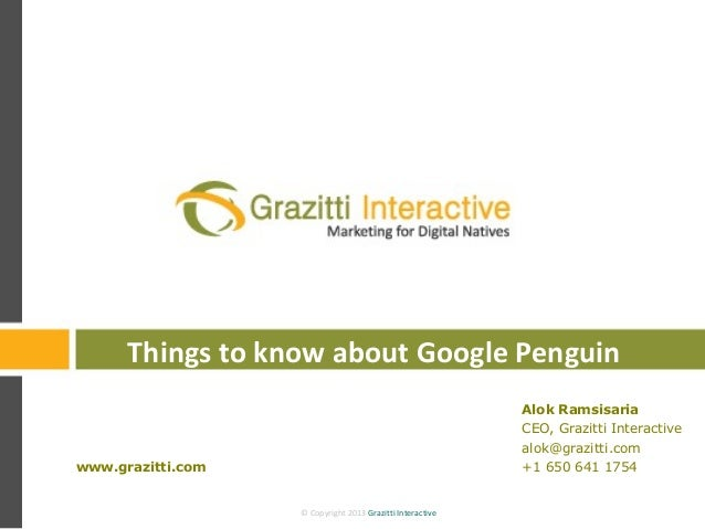 Things to know about Google Penguin