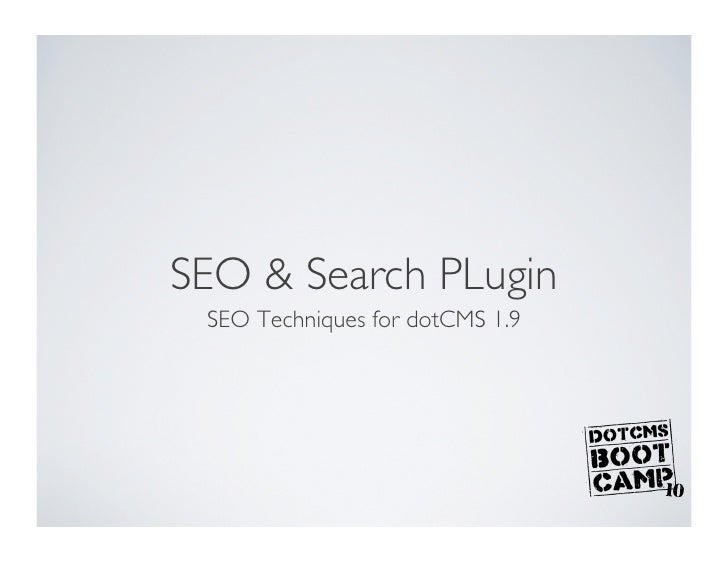 SEO and search plugins