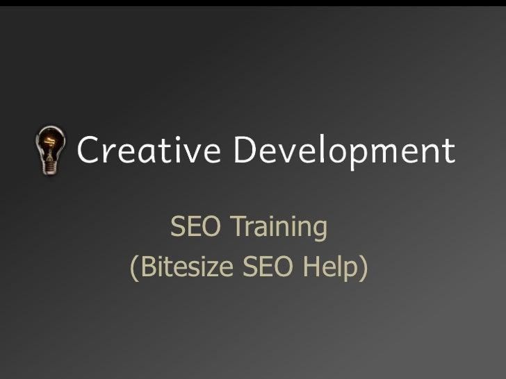 SEO Training<br />(Bitesize SEO Help)<br />