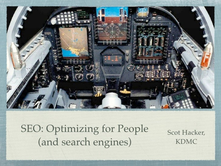 SEO: Optimizing Sites for People (and search engines)