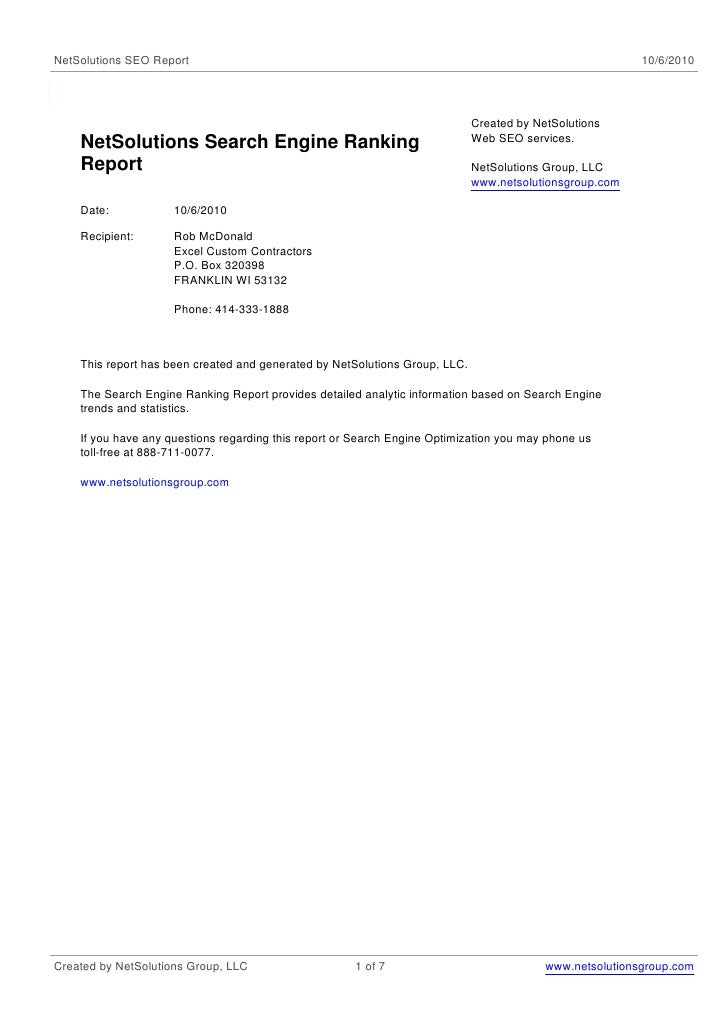 NetSolutions SEO Report                                                                                   10/6/2010       ...