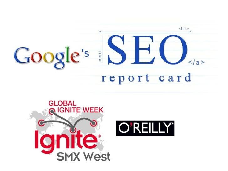 SEO Report Card - Slides