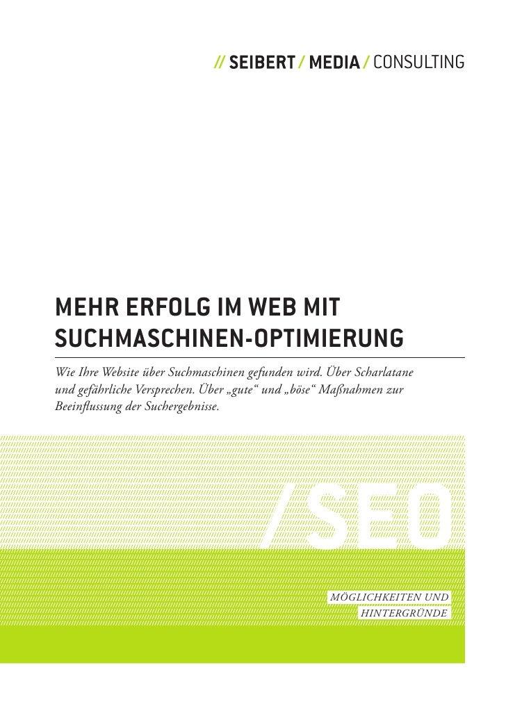 CONSULTING     mehr erfolg im web mit suchmaschinen-optimierung Wie ihre Website über Suchmaschinen gefunden wird. über Sc...
