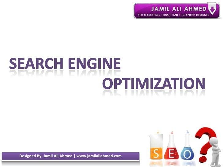 Seo seminar presentaion   jamil ali ahmed