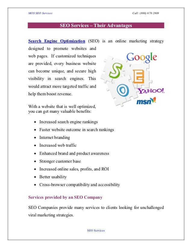 Seo services   their advantages