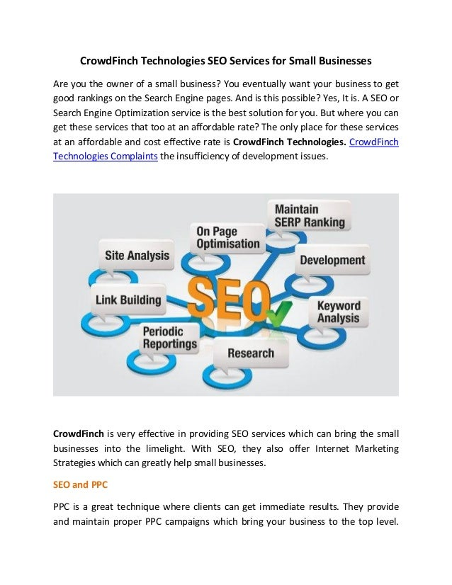 CrowdFinch Technologies Seo services for small businesses