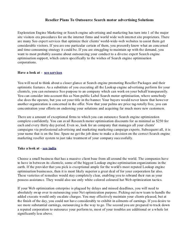 Seo services pdf