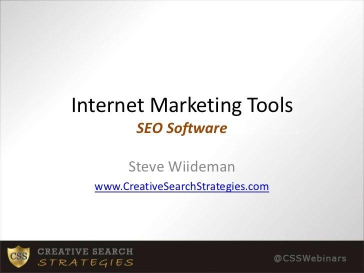 Internet Marketing Tools: SEO Software