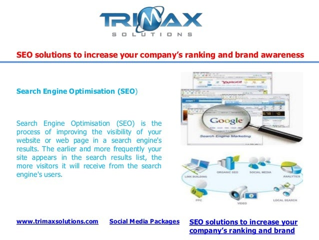 Search Engine Optimisation (SEO) is theprocess of improving the visibility of yourwebsite or web page in a search enginesr...
