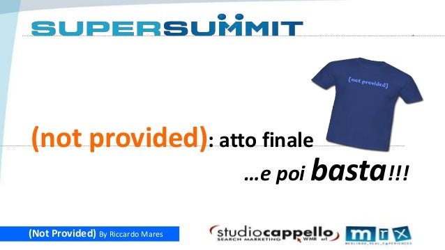 1  (not provided): atto finale …e poi basta!!! (Not Provided) By Riccardo Mares