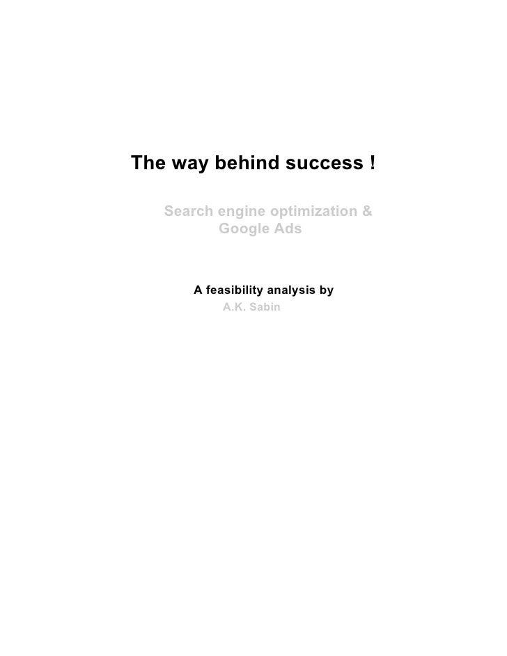 SEO; The Way Behind Success (AK Sabin)