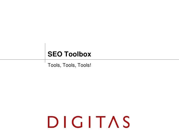 SEO ToolboxTools, Tools, Tools!