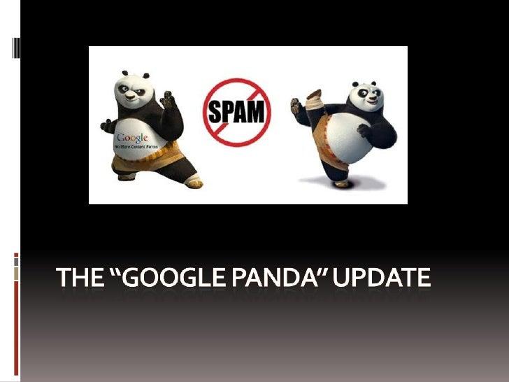 Overview   What is Google Panda?   5 Content Sins  Panda Losers  Panda Winners