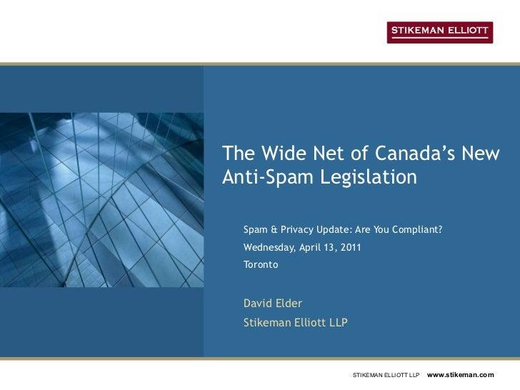 The Wide Net of Canada\'s New Anti-Spam Legislation