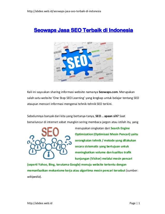 http://abdee.web.id/seowaps-jasa-seo-terbaik-di-indonesiahttp://abdee.web.id Page   1Seowaps Jasa SEO Terbaik di Indonesia...