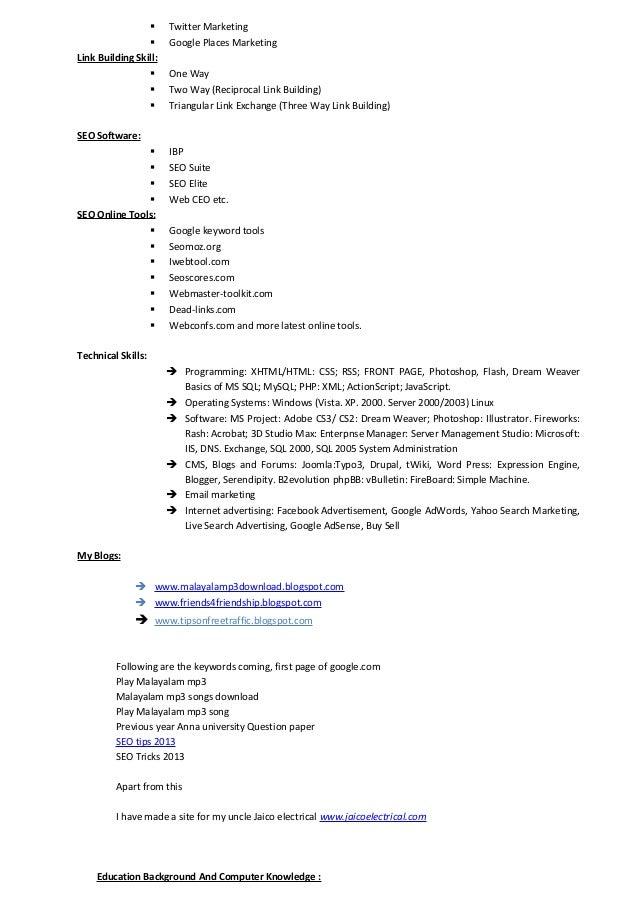 marketing analytics resume marketing analyst resume word excel pdf ...