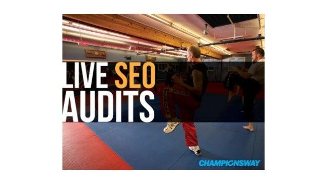 [Webinar] Live SEO Martial Arts Website Audits
