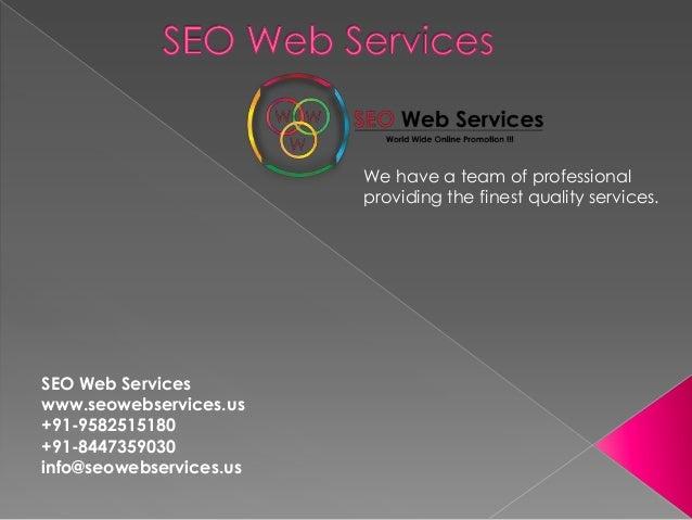 Seo web services IT company delhi