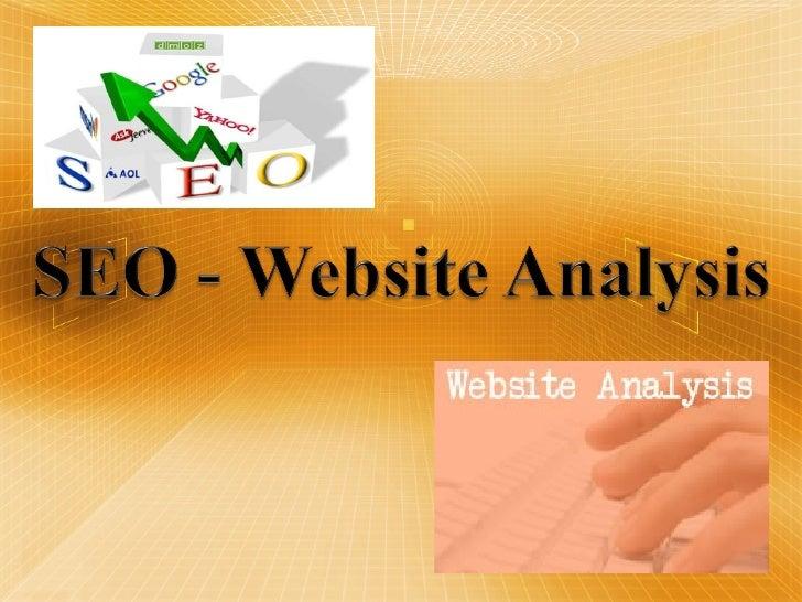 SEO - Website Analysis