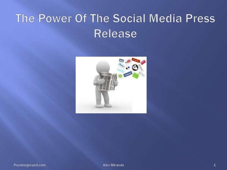 Effective Social Media Press Releases