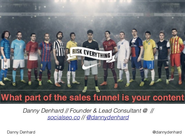 @dannydenhardDanny Denhard What part of the sales funnel is your content Danny Denhard // Founder & Lead Consultant @ // s...