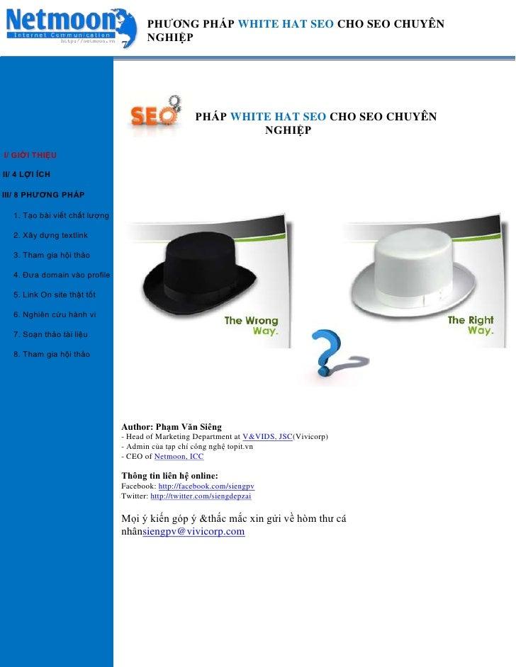 Seo white hat- 8 phương pháp SEO mũ trắng chuyên nghiệp