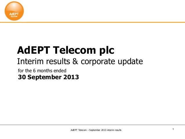 Sep 13-interim-results-a dept