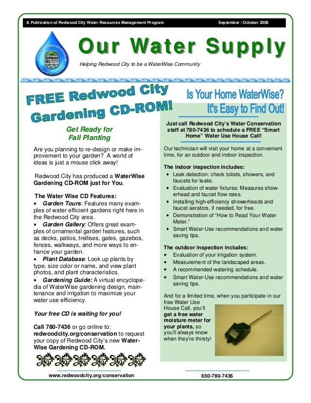Is Your Home Waterwise, It's Easy to Find Out - Redwood City, California