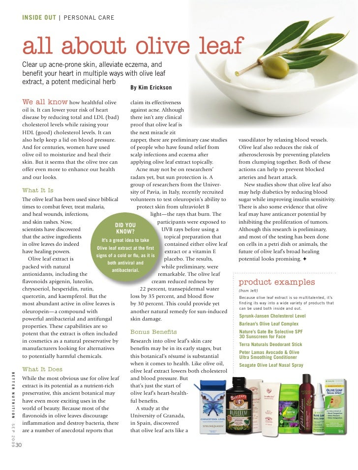 All About Olive Leaf