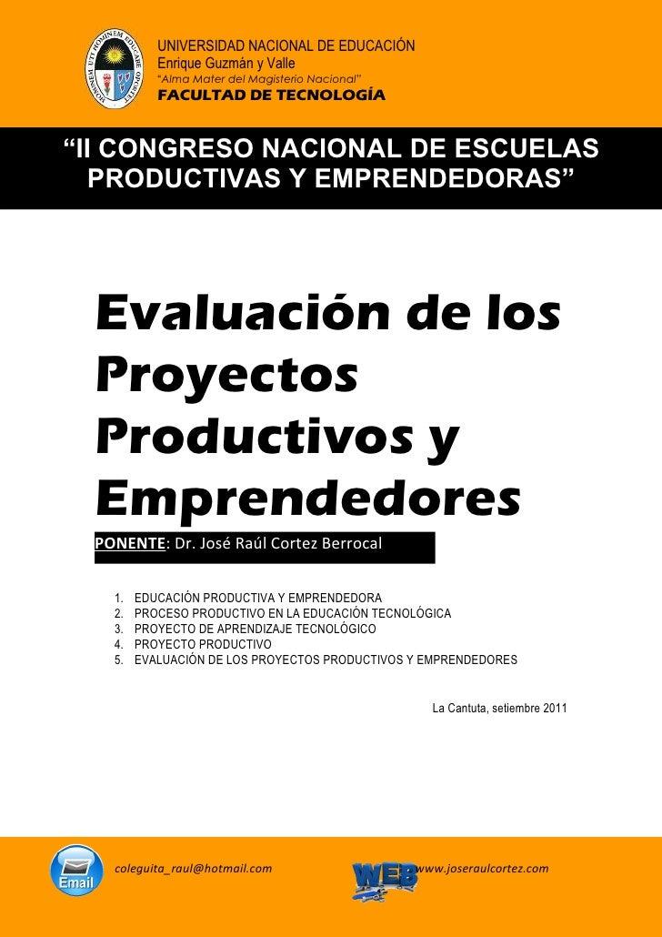 Separata evaluacion de proyectos productivos