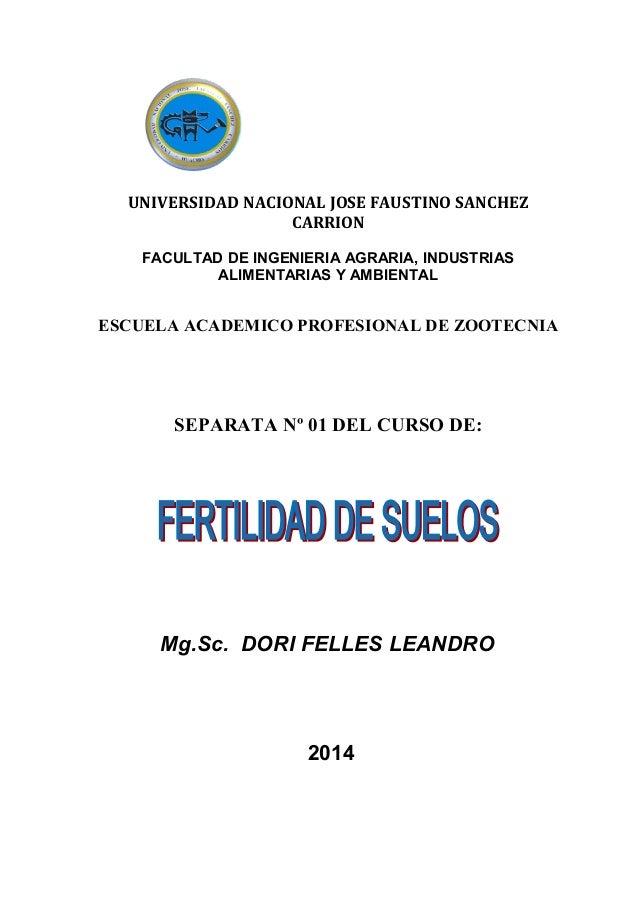 UNIVERSIDAD NACIONAL JOSE FAUSTINO SANCHEZ CARRION FACULTAD DE INGENIERIA AGRARIA, INDUSTRIAS ALIMENTARIAS Y AMBIENTAL ESC...