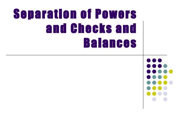 separation of powers worksheet