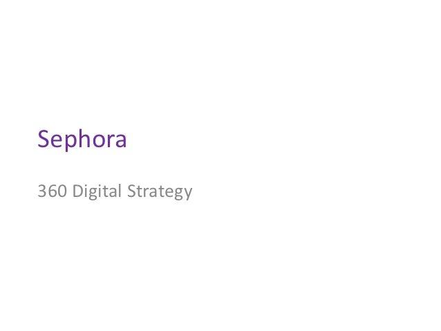 Sephora360 Digital Strategy