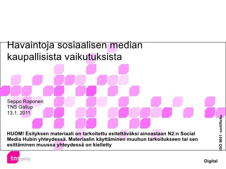 Havaintoja sosiaalisen median kaupallisista vaikutuksista