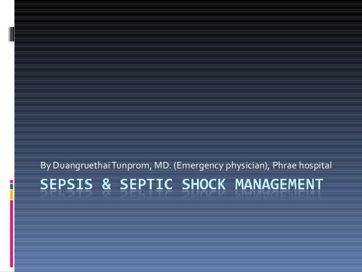 Sepsis & septic shock management