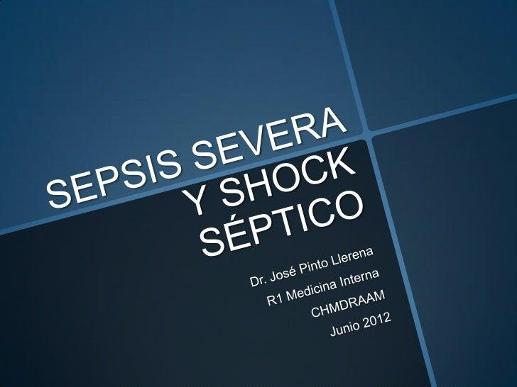 Sepsis severa y shock septico