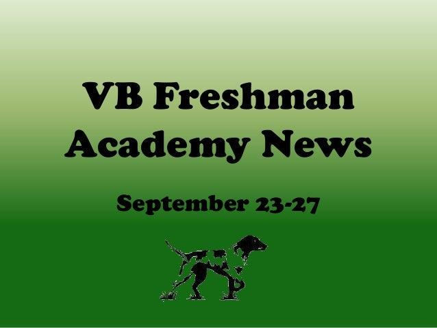 VB Freshman Academy News September 23-27