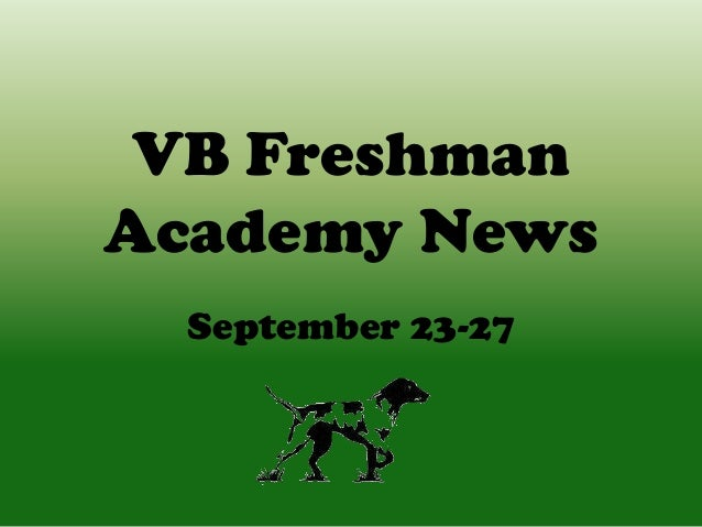 VB Freshman Academy News September 23-27