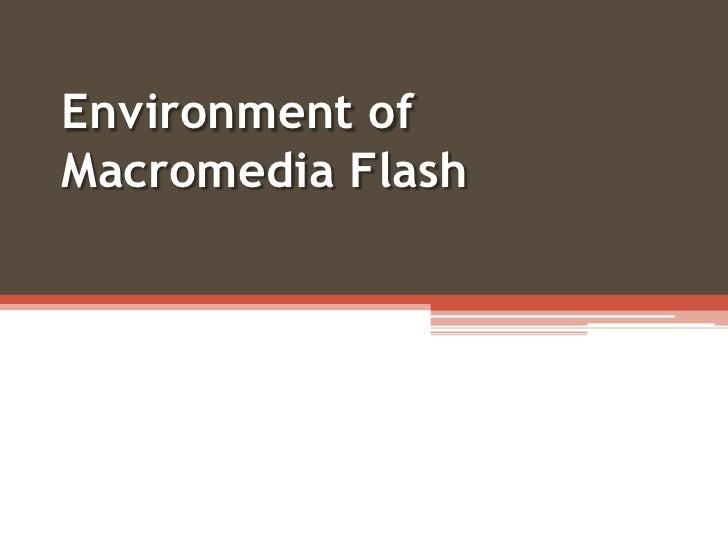 Environment of Macromedia Flash<br />