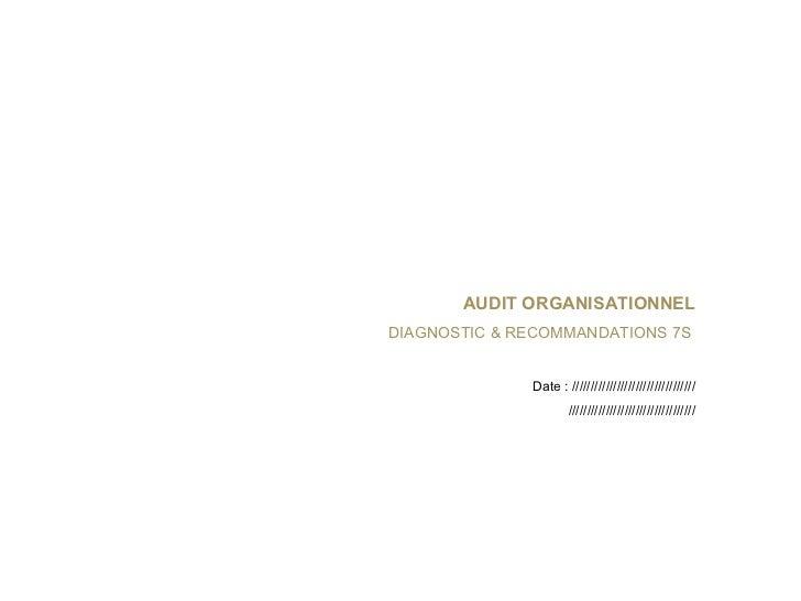 <ul><li>Nœud Borroméen d'YSL   </li></ul><ul><li>Histoire d'une désincarnation </li></ul>AUDIT ORGANISATIONNEL   DIAG...