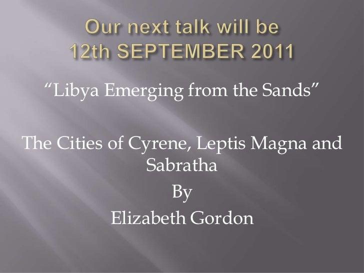 WDFAS Next Talk