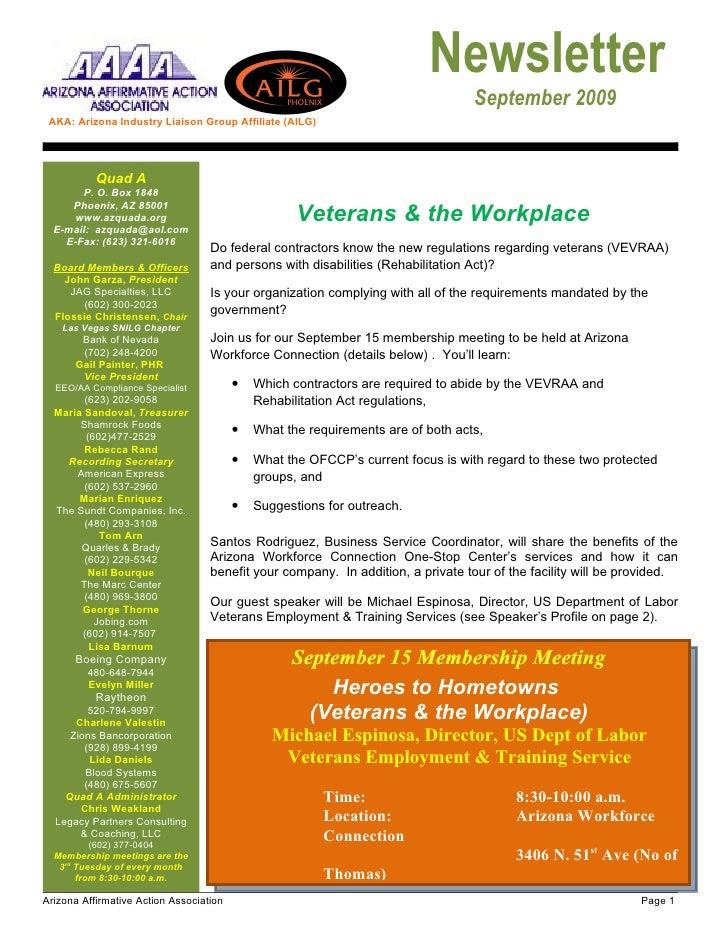 Newsletter                                                                                   September 2009  AKA: Arizona ...